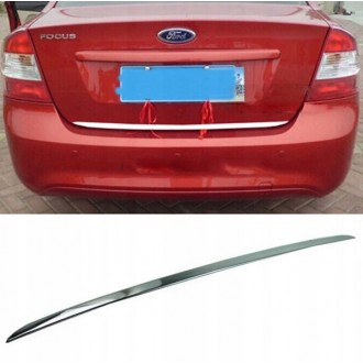 FORD FOCUS I Sedan -CHROME Rear Strip Trunk Tuning Lid 3M Boot
