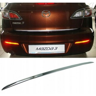 MAZDA 3 II Sedan BL - CHROME Rear Strip Trunk Tuning Lid 3M Boot