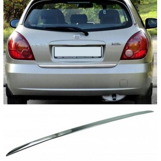 Nissan ALMERA II - CHROME Rear Strip Trunk Tuning Lid 3M Boot