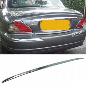 JAGUAR X-TYPE - CHROME Rear Strip Trunk Tuning Lid 3M Boot