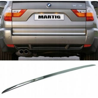 BMW X3 X-3 E83 - CHROME Rear Strip Trunk Tuning Lid 3M Boot