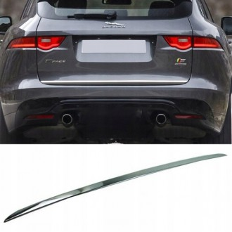 Jaguar F-Pace SUV - CHROME Rear Strip Trunk Tuning Lid 3M Boot
