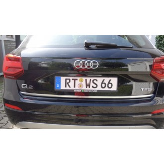 Audi Q2 - Chrom-Zierleiste Heckleiste 3M Tuning Chromleiste Heckklappe