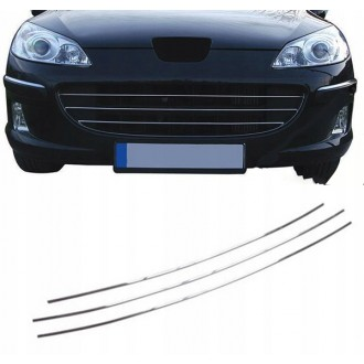 Peugeot 407 - Chrome Grille Kit 3M Tuning