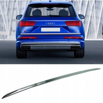Audi Q7 4M 2015 - CHROME Rear Strip Trunk Tuning Lid 3M Boot