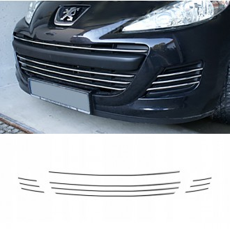 Peugeot 207 - Chrome Grille Kit 3M Tuning