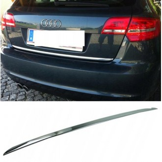 Audi A3 8PA S[prtback - CHROME Rear Strip Trunk Tuning Lid 3M Boot