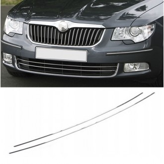 SKODA SUPERB II - Chrome Grille Kit 3M Tuning