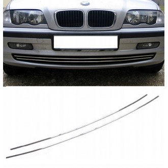 BMW 3 E46 98-01 - Chrome Grille Kit 3M Tuning