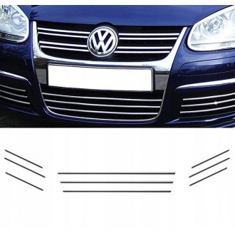 VW GOLF V JETTA - Listwy CHROM GRILL atrapa Tuning