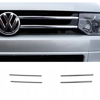 VW T5 Serie 2 09-15 - Chrome Grille Kit 3M Tuning