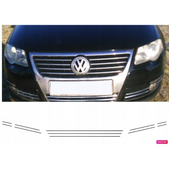 VW PASSAT B6 - Chrome Grille Kit 3M Tuning