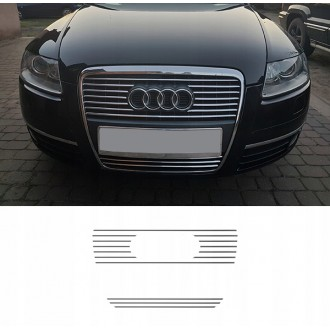 AUDI A6 C6 - Chrome Grille Kit 3M Tuning
