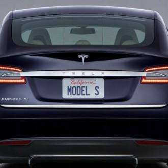 TESLA Model S - Chrom-Zierleiste Heckleiste 3M Tuning Chromleiste Heckklappe