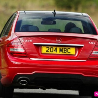 Mercedes C204 Coupe - CHROME Rear Strip Trunk Tuning Lid...