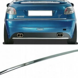 Peugeot 206 CC - CHROME Rear Strip Trunk Tuning Lid 3M Boot
