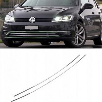 VW GOLF VII 7 HB Kombi Listwy CHROM GRILL Zderzak
