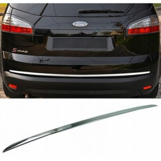 Ford S-MAX - CHROME Rear Strip Trunk Tuning Lid 3M Boot