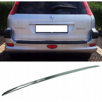PEUGEOT 206 SW - CHROME Rear Strip Trunk Tuning Lid 3M Boot