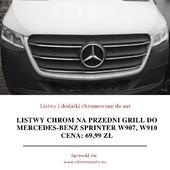 🚘🏁 Listwy chrom na przedni grill do Mercedes-Benz Sprinter W907 i W910 2018+ Zawartość zestawu: 5x listwy chrom (nowe, fabrycznie zafoliowane), instrukcja montażu w języku polskim, oryginalne opakowanie ochronne. . Oferowane listwy pozwolą zabezpieczyć Twój samochód przed korozją oraz jednocześnie podnieść jego atrakcyjność. Oferowane przez nas listwy podniosą prestiż Twojego samochodu oferując jednocześnie maksymalny poziom bezpieczeństwa. Jeśli zależy Ci na Twoim samochodzie, listwy do Mercedesa Sprinter będą idealnym wyborem. . Listwy posiadają na odwrocie specjalne dwustronne taśmy tuningowe firmy 3M. Taśmy te pozwalają na bardzo szybki i łatwy montaż w kilka minut. Jeśli jednak będą problemy to do każdej przesyłki dołączana jest instrukcja montażu w języku polskim. . Listwy CHROMOWANE zapewniają pojazdom prestiż i super wygląd, długotrwały wspaniały efekt, wysoki połysk, odporność na warunki zewnętrzne, odporność na chemię (również na sól drogową), a wysoka staranność wykonania zapewnia idealne dopasowanie i bardzo dobrą jakość użytkowania. ❤️ . Mają Państwo okazję kupić produkt który kosztuje dużo więcej w salonach firmowych a spełnia taką samą funkcję i wygląda identycznie! Kupując u nas mają Państwo pewność profesjonalnej obsługi i błyskawicznego kontaktu niemal 12h na dobę! Dbamy o klienta dlatego zapewniamy kontakt od 8:00 do 20:00. . Wszystkie podane ceny listew chromowanych są cenami brutto. Razem z przesyłką każdy klient naszego sklepu CHROMEAUTO otrzymuje paragon na zakup listwy, a na życzenie FAKTURĘ VAT 23%. 👇 Cena: 69,99zł + wysyłka Link do aukcji: www.bit.ly/chrome_sprinter . . . #blask #czyszczenie #efektlustra #efektwow #felgi #jakość #klasyczne #klasyki #konserwacja #pojazd #limuzyna #zmiananalepsze #motoryzacja #piekny #pieknywidok #przedipo #regeneracja #samochody #samochod #klasyk #efekt #jazda #jestpięknie #lubie #metamorfoza