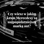 Mercedes – najpopularniejsza marka samochodów w… Albanii! To w tym kraju Mercedesy stanowią ponad 80 procent zarejestrowanych pojazdów! Co ważne - nowe Mercedesy sprzedawane są bardzo rzadko, a największą popularnością cieszą się egzemplarze sprzed kilkunastu i kilkudziesięciu lat.  . Jest to związane z faktem, iż dla Albańczyków auta tej marki są synonimem prestiżu i wytrzymałości. Stary Mercedes jest dla nich bardziej luksusowy niż na przykład nowa Skoda. . Sprawdź naszą pełną ofertę na allegro.pl/uzytkownik/CHROM_AUTO . . . #auto #car #poland #cars #polska #warszawa #drive #detailing #automotive #motoryzacja #chrome #chromeauto #bezgwiazdyniemajazdy #samochód
