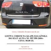 🚘🏁 Listwa chrom na klapę bagażnika do SEAT ALTEA XL 5P5 5P8 2004+ Zawartość zestawu: Listwa chrom (nowa, fabrycznie zafoliowana), instrukcja montażu w języku polskim, oryginalne opakowanie ochronne. . Oferowana listwa pozwoli zabezpieczyć Twój samochód przed korozją oraz jednocześnie podnieść jego atrakcyjność. Oferowane przez nas listwy podniosą prestiż Twojego samochodu oferując jednocześnie maksymalny poziom bezpieczeństwa. Jeśli zależy Ci na Twoim samochodzie, listwy do Seata Altea XL będą idealnym wyborem. . Listwy posiadają na odwrocie specjalne dwustronne taśmy tuningowe firmy 3M. Taśmy te pozwalają na bardzo szybki i łatwy montaż w kilka minut. Jeśli jednak będą problemy to do każdej przesyłki dołączana jest instrukcja montażu w języku polskim. . Listwy CHROMOWANE zapewniają pojazdom prestiż i super wygląd, długotrwały wspaniały efekt, wysoki połysk, odporność na warunki zewnętrzne, odporność na chemię (również na sól drogową), a wysoka staranność wykonania zapewnia idealne dopasowanie i bardzo dobrą jakość użytkowania. ❤️ . Mają Państwo okazję kupić produkt który kosztuje dużo więcej w salonach firmowych a spełnia taką samą funkcję i wygląda identycznie! Kupując u nas mają Państwo pewność profesjonalnej obsługi i błyskawicznego kontaktu niemal 12h na dobę! Dbamy o klienta dlatego zapewniamy kontakt od 8:00 do 20:00. . Wszystkie podane ceny listew chromowanych są cenami brutto. Razem z przesyłką każdy klient naszego sklepu CHROME-AUTO otrzymuje paragon na zakup listwy, a na życzenie FAKTURĘ VAT 23%. 👇 Cena: 80,00zł + wysyłka Link do aukcji: www.bit.ly/seat_altea . . . #motoryzacja #samochody #car #automotive #poland #cars #samochód #blog #otomoto #vw #touran #carslovers #instacar #autospa #car #carsofinstagram #photography #carporn #luxury #bmw #auto #carswithoutlimits #love