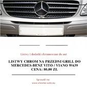 🚘🏁 Listwy chrom na przedni grill do Mercedes-Benz VITO / VIANO W639 Zawartość zestawu: 7 sztuk listew chrom (nowe, fabrycznie zafoliowane), instrukcja montażu w języku polskim, oryginalne opakowanie ochronne. . Oferowana listwa pozwoli zabezpieczyć Twój samochód przed korozją oraz jednocześnie podnieść jego atrakcyjność. Oferowane przez nas listwy podniosą prestiż Twojego samochodu oferując jednocześnie maksymalny poziom bezpieczeństwa. Jeśli zależy Ci na Twoim samochodzie, listy do Mercedesa VITO / VIANO będą idealnym wyborem . Listwy posiadają na odwrocie specjalne dwustronne taśmy tuningowe firmy 3M. Taśmy te pozwalają na bardzo szybki i łatwy montaż w kilka minut. Jeśli jednak będą problemy to do każdej przesyłki dołączana jest instrukcja montażu w języku polskim. . Listwy CHROMOWANE zapewniają pojazdom prestiż i super wygląd, długotrwały wspaniały efekt, wysoki połysk, odporność na warunki zewnętrzne, odporność na chemię (również na sól drogową), a wysoka staranność wykonania zapewnia idealne dopasowanie i bardzo dobrą jakość użytkowania. ❤️ . Mają Państwo okazję kupić produkt który kosztuje dużo więcej w salonach firmowych a spełnia taką samą funkcję i wygląda identycznie! Kupując u nas mają Państwo pewność profesjonalnej obsługi i błyskawicznego kontaktu niemal 12h na dobę! Dbamy o klienta dlatego zapewniamy kontakt od 8:00 do 20:00. . Wszystkie podane ceny listew chromowanych są cenami brutto. Razem z przesyłką każdy klient naszego sklepu CHROME-AUTO otrzymuje paragon na zakup listwy, a na życzenie FAKTURĘ VAT 23%. 👇 Cena: 80,00zł + wysyłka Link do aukcji: bit.ly/listwy_vito_viano . . . #chromeauto #instacar #supercars #chrome #samochod #mercedes #bezgwaizdyniemajazdy #suv #instagood #kochamsamochody